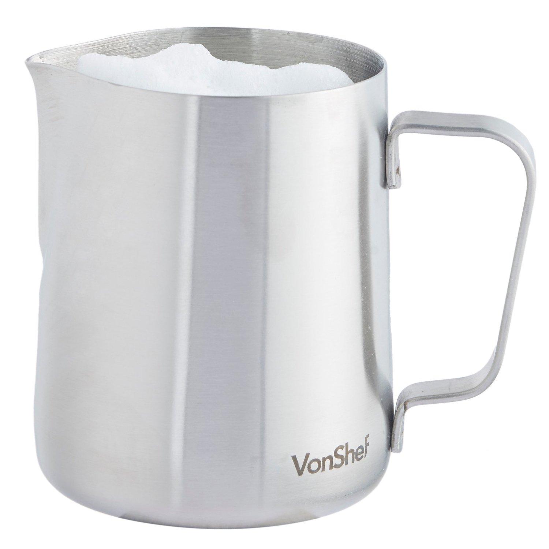 best milk frothing jug reviews 2018 for steamed milk and. Black Bedroom Furniture Sets. Home Design Ideas