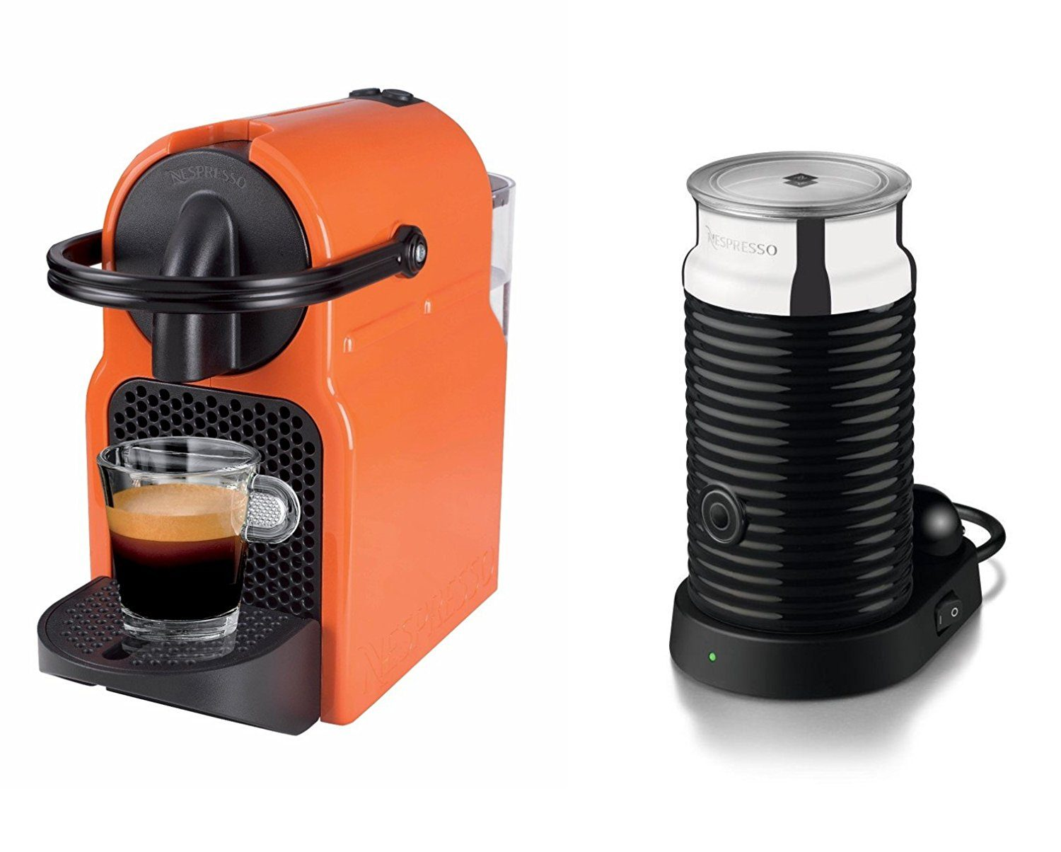 Magimix Nespresso Inissia Summer Sun and Aeroccino Coffee Machine
