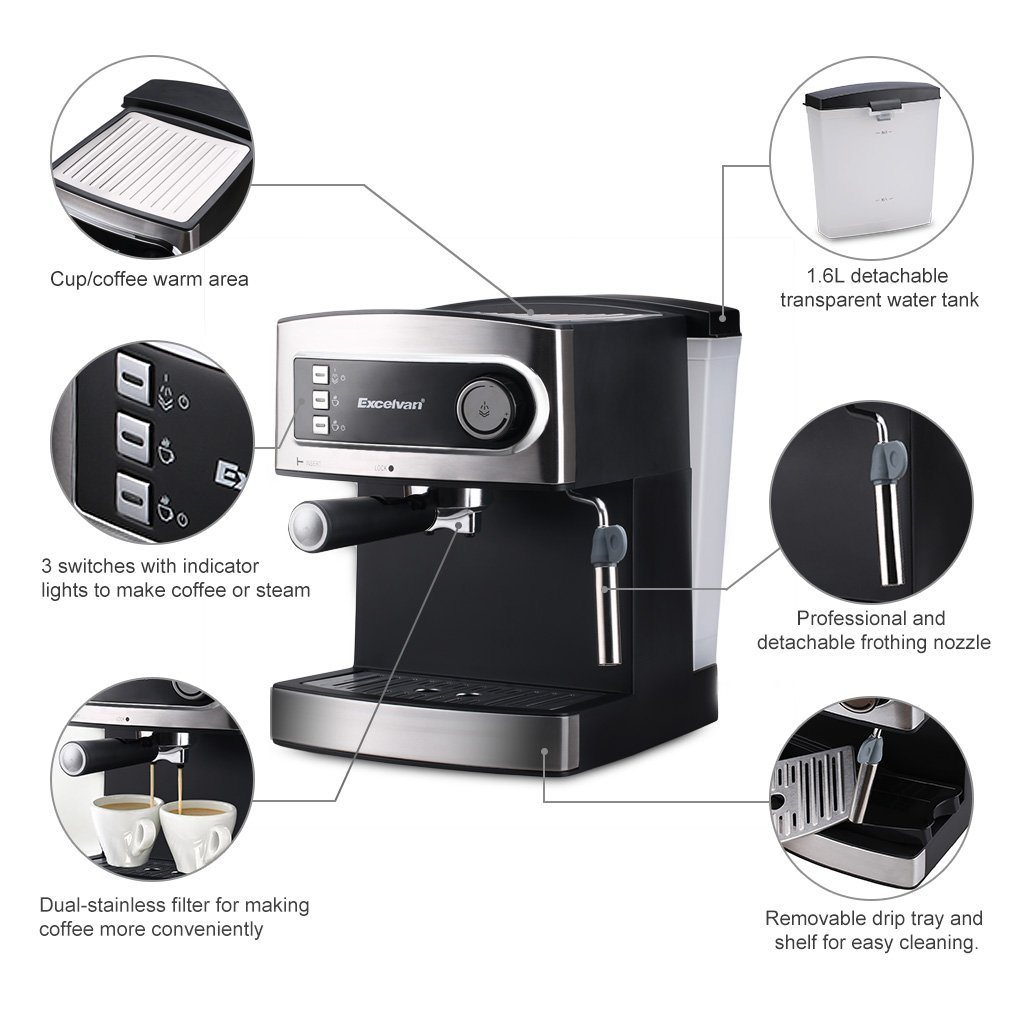 Excelvan 15 Bar Coffee Machine