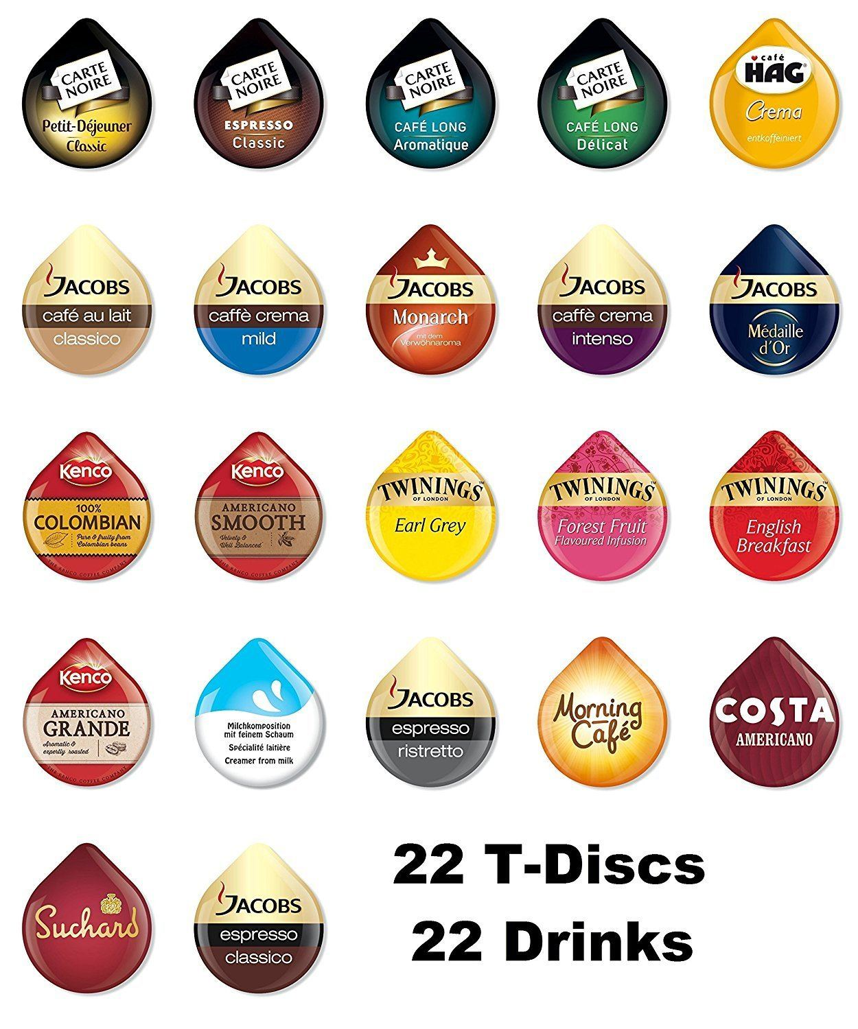 Tassimo T Discs Pods Variety Pack
