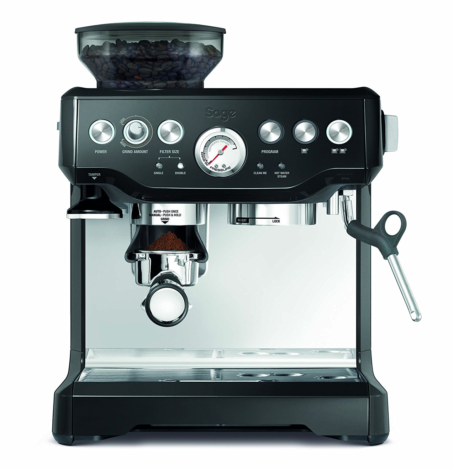 Sage by Heston Blumenthal the Barista Express Coffee Machine and Grinder Black