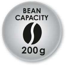 200 gram coffee bean capacity