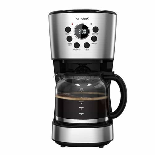 Homgeek Coffee Maker Filter Coffee Machine