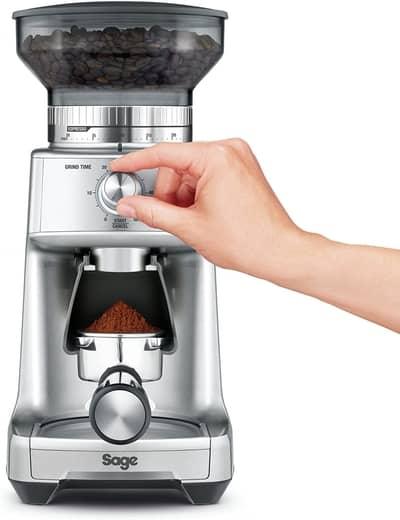 a burr coffee grinder